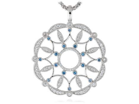 Pendant LAZE Blue in silver