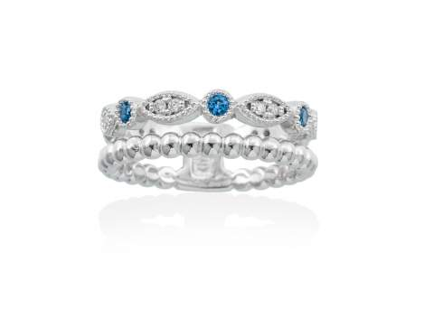 Ring NICE Blue in silver