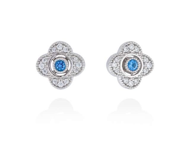 Pendientes LAZE Azul en plata de Marina Garcia Joyas en plata<p>Pendientes de plata de primera ley (925) con baño de rodio, circonita blanca y espinela azul sintética. (tamaño: 1,2 cm.)</p> de Marina Garcia Joyas en plata<p>Pendientes de plata de primera ley (925) con baño de rodio, circonita blanca y espinela azul sintética. (tamaño: 1,2 cm.)</p>