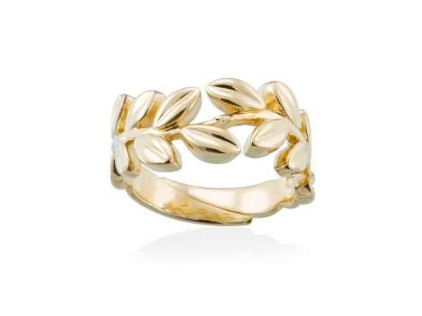 23c7d24e35a5 Anillo LAUREL en plata dorada