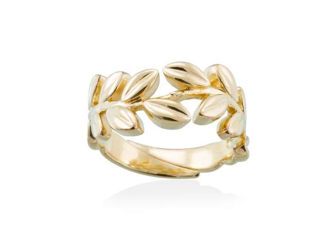 Ring LAUREL in golden silver de Marina Garcia Joyas en plata<p>Ring in 18kt yellow gold plated 925 sterling silver.</p>