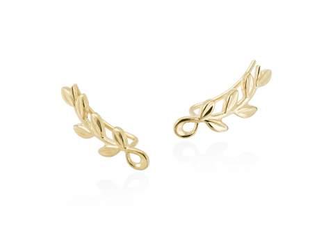 Earrings LAUREL in golden silver