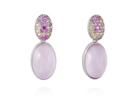 Earrings HIDRA Pink in silver