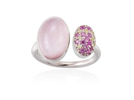 Ring HIDRA Pink in silver