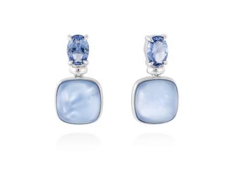 Earrings LAKE Blue in silver