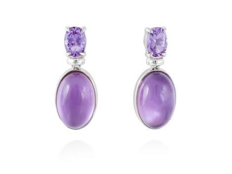 Earrings LAKE Purple in silver