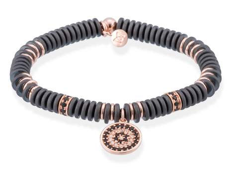 Bracelet FULL MOON in rose silver