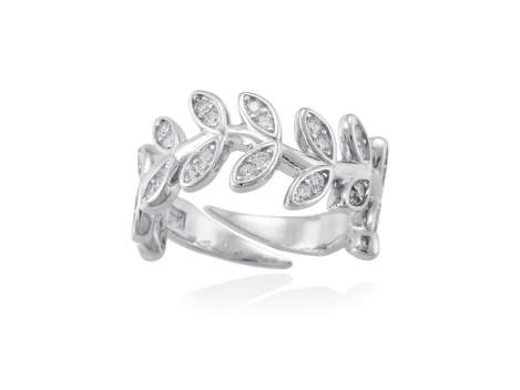 Ring LAUREL in silber
