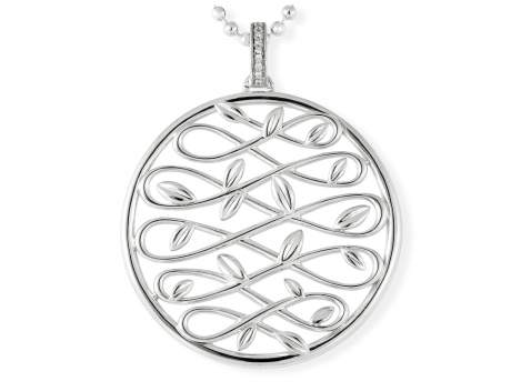 Pendant LAUREL in silver