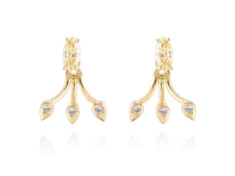 Earrings HIEDRA in golden silver
