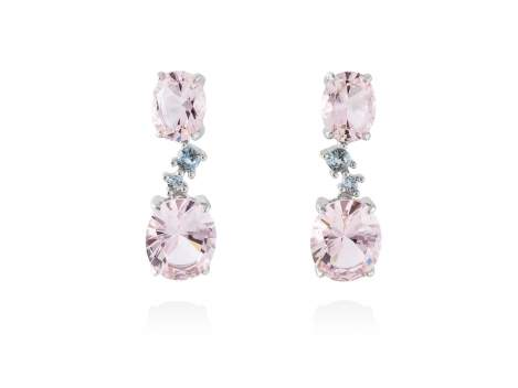 Earrings NIAGARA Pink in silver