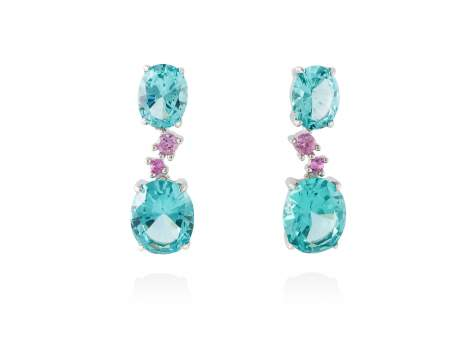 Earrings NIAGARA Paraiba in silver