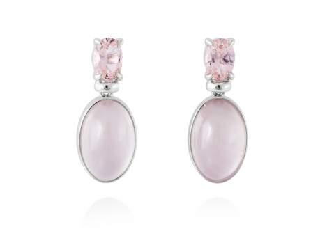 Earrings LAKE Pink in silver