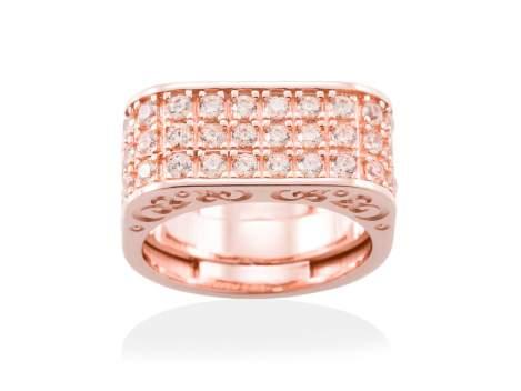 Ring SEVRUGA Cognac in rose silver