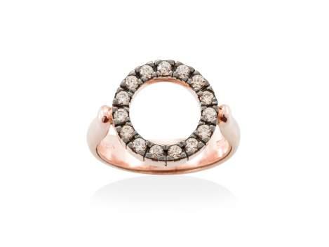 Ring BELUGA Cognac in rose silver