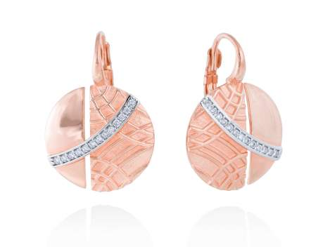 Earrings LINDT White in rose silver