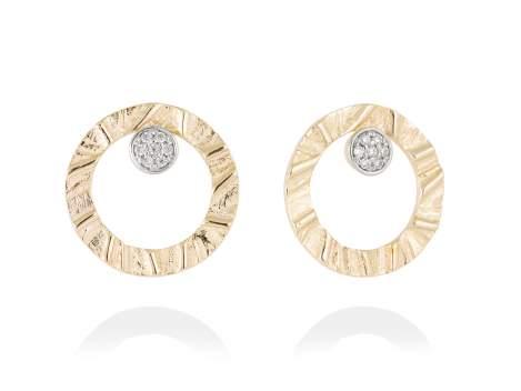 Earrings FOUNDANT White in golden silver