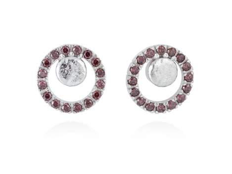 Earrings FOUNDANT Brown in silver