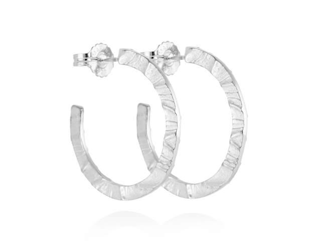 Earrings FOUNDANT in silver de Marina Garcia Joyas en plata Earrings in rhodium plated 925 sterling silver. (external diameter: 3,7 cm.)