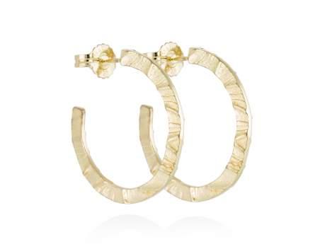 Earrings FOUNDANT in golden silver