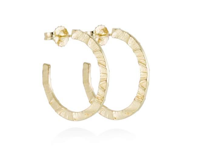 Earrings FOUNDANT in golden silver de Marina Garcia Joyas en plata Earrings in 18kt yellow gold plated 925 sterling silver. (external diameter: 3,7 cm.)