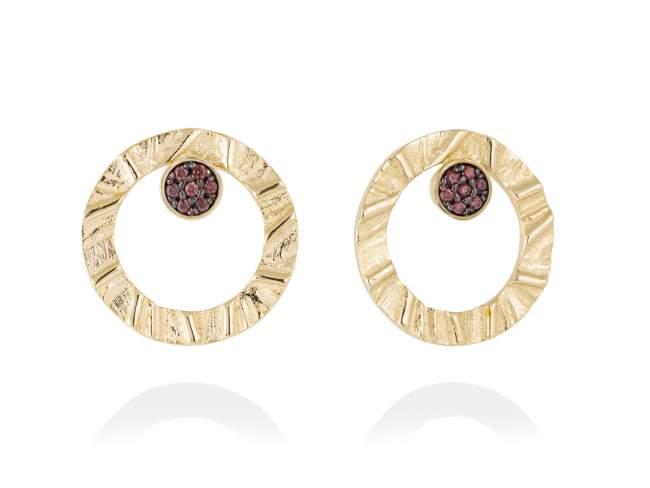 Earrings FOUNDANT Brown in golden silver de Marina Garcia Joyas en plata
