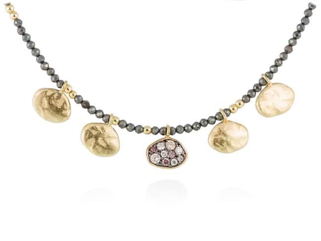 Necklace LINX Multicolor in golden silver de Marina Garcia Joyas en plata
