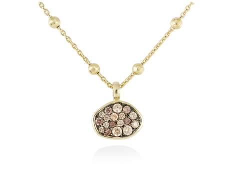 Necklace PATT Multicolor in golden silver