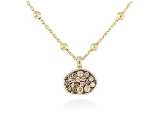 Necklace PATT Multicolor in golden silver de Marina Garcia Joyas en plata