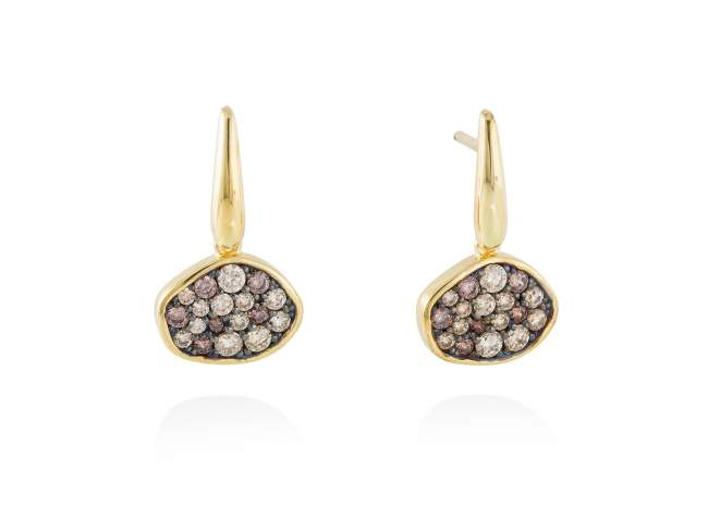 Earrings PATT Multicolor in golden silver de Marina Garcia Joyas en plata