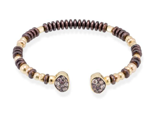 Bracelet LINX Multicolor in golden silver de Marina Garcia Joyas en plata