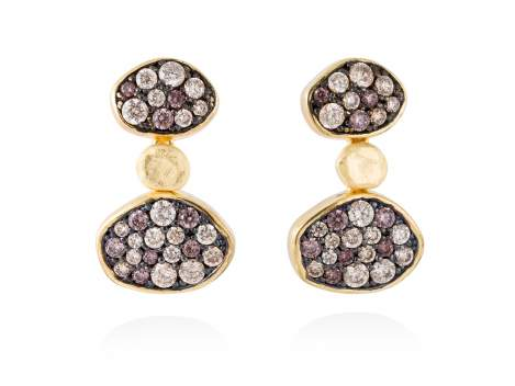Earrings LINX Multicolor in golden silver