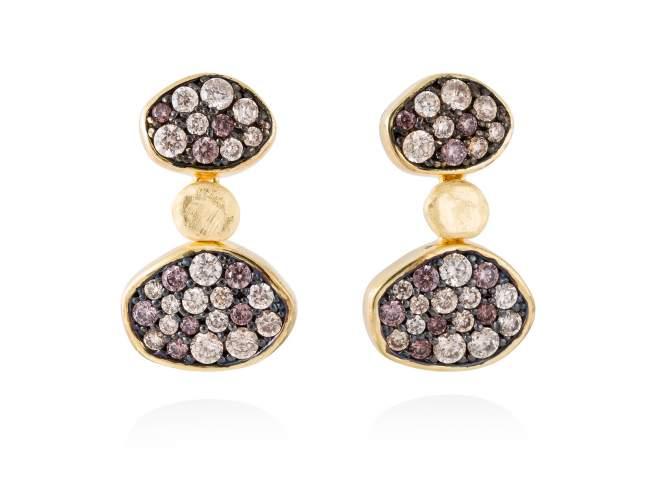 Earrings LINX Multicolor in golden silver de Marina Garcia Joyas en plata