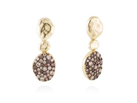 Earrings PATT Multicolor in golden silver