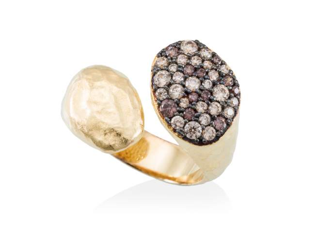 Ring PATT Multicolor in golden silver de Marina Garcia Joyas en plata