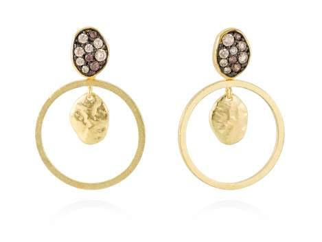 Earrings LINX Multicolor in golden silver