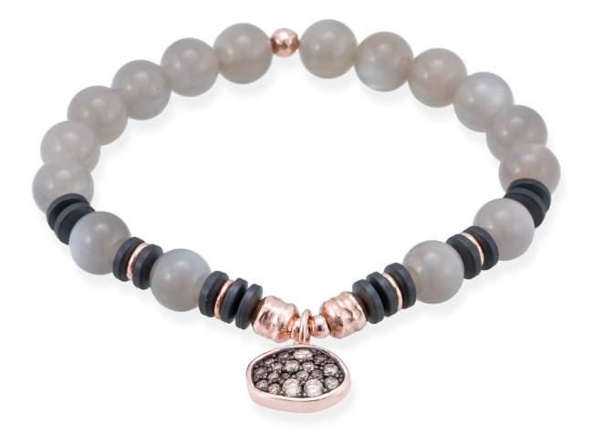Bracelet MINK Grey in rose silver de Marina Garcia Joyas en plata
