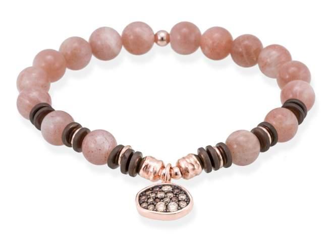 Bracelet MINK Peach in rose silver de Marina Garcia Joyas en plata