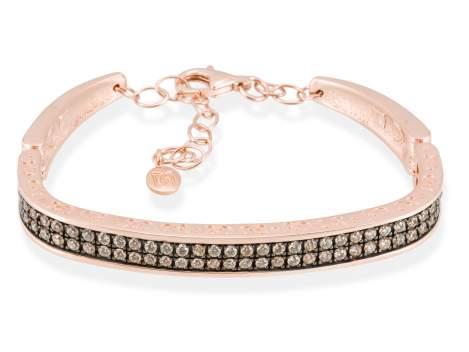 Bracelet SEVRUGA Cognac in rose silver