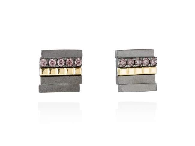 Earrings CHOCOLAT Brown in black silver de Marina Garcia Joyas en plata