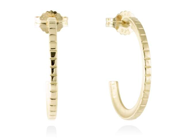 Earrings LINDT in golden silver de Marina Garcia Joyas en plata