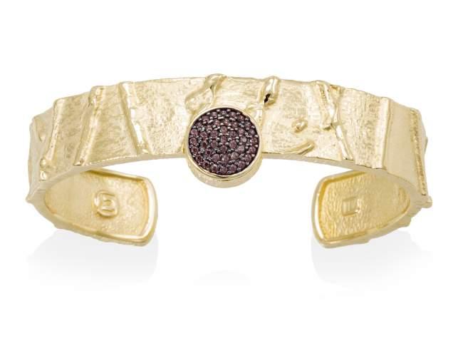 Bracelet FOUNDANT Brown in golden silver de Marina Garcia Joyas en plata