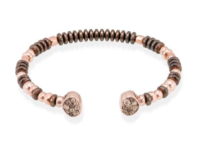 Bracelet LINX Multicolor in rose silver de Marina Garcia Joyas en plata