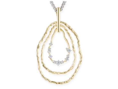 Pendant LIA White in golden silver
