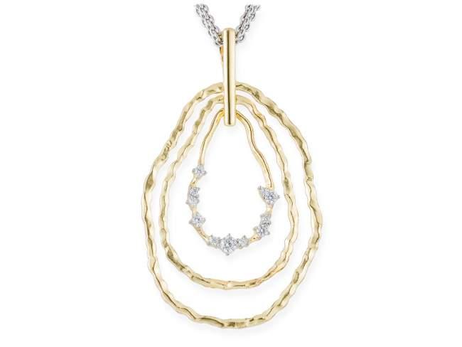 Pendant LIA White in golden silver de Marina Garcia Joyas en plata