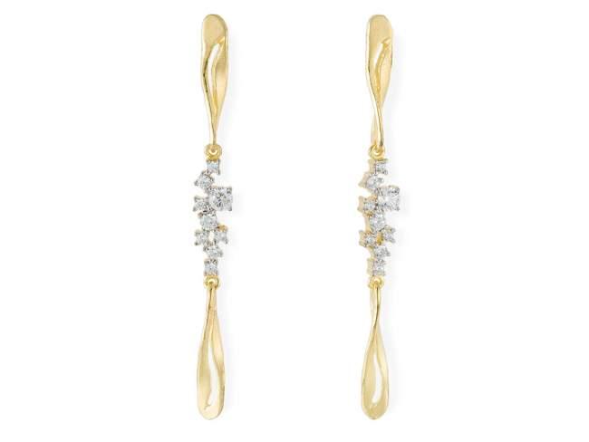 Earrings LIA White in golden silver de Marina Garcia Joyas en plata
