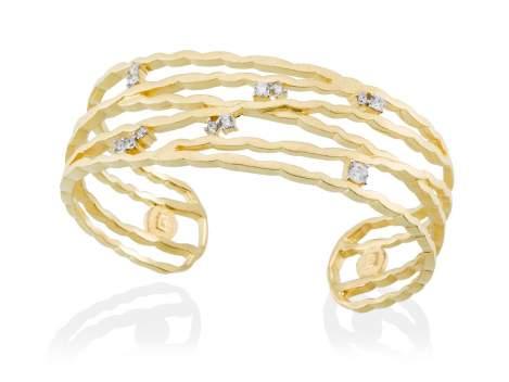 Bracelet LIA White in golden silver
