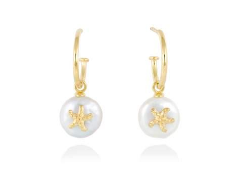 Earrings CABO in golden silver