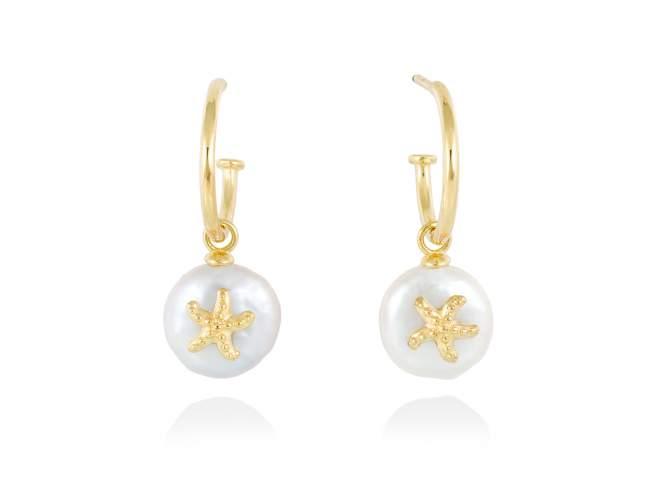 Earrings CABO in golden silver de Marina Garcia Joyas en plata