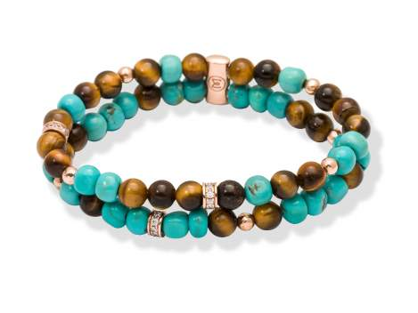 Bracelet TAO Blue in rose silver